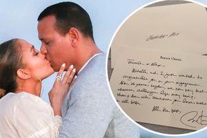 Tổng thống Obama viết thư tay chúc mừng Jennifer Lopez đính hôn