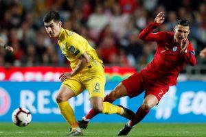Ronaldo trở lại nhưng Bồ Đào Nha không thắng nổi Ukraine