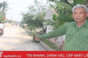 Hơn 1.000 hộ dân Lộc Hà hiến gần 26.000 m2 đất xây dựng nông thôn mới