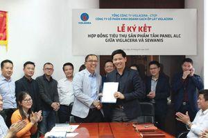 Viglacera ký kết hợp đồng trị giá hàng triệu USD xuất khẩu tấm panel ALC qua Singapore