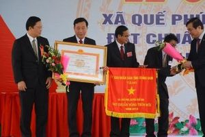 Thủ tướng dự lễ công bố xã Quế Phú đạt chuẩn nông thôn mới