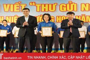 Hà Tĩnh trao giải cuộc thi viết 'Thư gửi người thân' trong thanh niên trường học