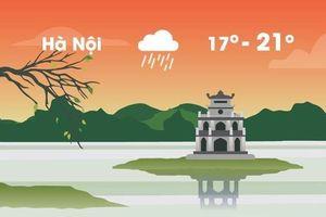 Thời tiết ngày 25/3: Hà Nội mưa phùn buổi sáng, trời rét 17 độ C
