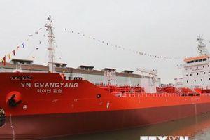 Bàn giao tàu dầu hoặc hóa chất có trọng tải 6.500 tấn cho Hàn Quốc