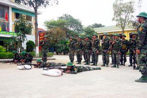 Những chiến sĩ mới trên thao trường huấn luyện
