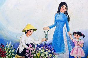 Tái hiện làng hoa Ngọc Hà qua tranh bích họa