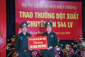 Bộ Tư lệnh BĐBP trao thưởng cho Ban chuyên án 544Lv