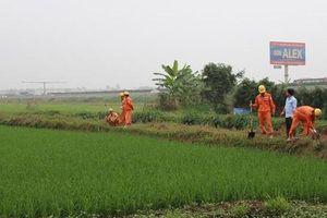 Bàn giao mốc giới dự án xây dựng Trạm biến áp 110kV ở Phú Xuyên, Hà Nội