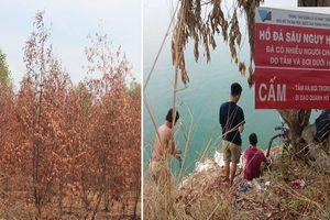 Nắng đến cháy da, thiêu chết cây cỏ: Dân TP.HCM phá rào hồ 'tử thần' vào bơi lội, mắc võng ngủ