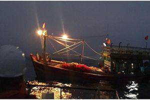 Cứu nạn 16 thuyền viên trên tàu cá NA 90558 TS