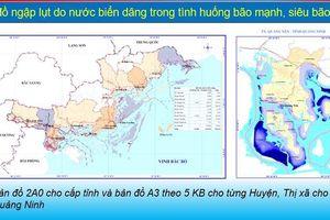 Công bố bản đồ ngập lụt trên cả nước khi có bão mạnh và siêu bão