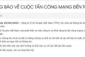 Lộ danh tính nhóm tin tặc nghi can tấn công mạng Toyota Việt Nam