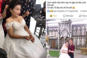 Thực hư chuyện cô dâu 75 tuổi ở Nghệ An cưới chồng 34 tuổi?