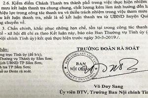 Thanh Hóa: Chánh thanh tra thành phố Sầm Sơn bị kiểm điểm 'rút kinh nghiệm sâu sắc'