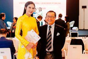 Hoa hậu Ngọc Hân gặp gỡ triệu phú gốc Việt Chúc Hoàng ở Pháp
