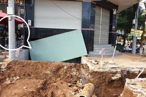 Người dân Phố Núi khốn khổ vì công trình chỉnh trang tuyến phố