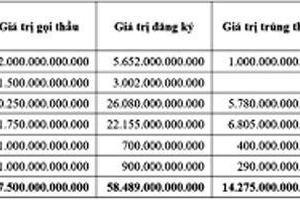 Huy động hơn 14,2 nghìn tỷ đồng trái phiếu qua đấu thầu