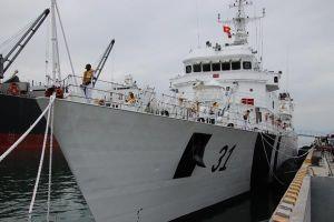 Tàu cảnh sát biển Ấn Độ - Việt Nam diễn tập tìm kiếm cứu nạn trên biển Đà Nẵng
