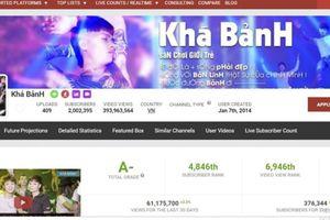 Kênh YouTube của 'giang hồ sống ảo' Khá 'bảnh' chính thức bị xóa