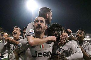Cagliari - Juventus 0-2: Bonucci khai màn, Moise Kean ấn định chiến thắng, Juve bỏ xa Napoli 18 điểm