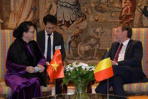 Chủ tịch Quốc hội hội kiến với Chủ tịch Hạ viện Vương quốc Bỉ