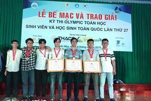 7/7 sinh viên của ĐH Bách khoa Hà Nội giành giải nhất trong kỳ thi Olympic Toán học toàn quốc