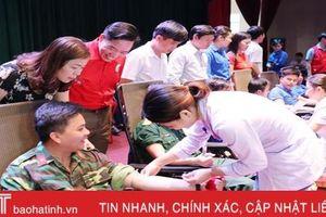 Ngày hội 'Giọt máu hồng tình nguyện' huyện Nghi Xuân thu được 222 đơn vị máu
