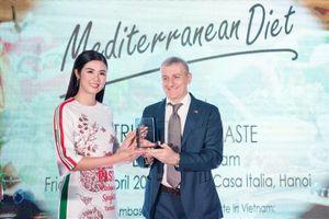 Hoa hậu Ngọc Hân bất ngờ làm đại sứ ẩm thực Italy tại Việt Nam