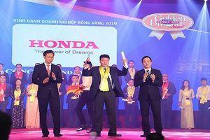 Honda Việt Nam nhận giải thưởng Rồng Vàng năm lần thứ 14