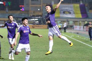 Thắng dễ SLNA với tỷ số 4-0, Hà Nội FC trở lại ngôi đầu V-League 2019