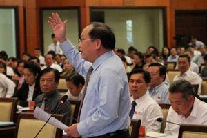 Ông Tất Thành Cang phát biểu tại kỳ họp HĐND TP.HCM