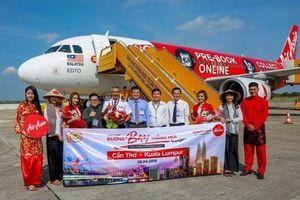 Cần Thơ đón chuyến bay quốc tế đầu tiên từ Kuala Lumpur