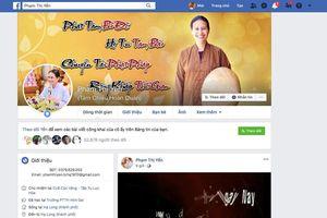 Bị Facebook khóa tài khoản, bà Yến chùa Ba Vàng vẫn còn tài khoản facebook phụ?