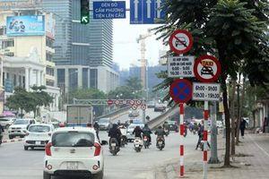 Hà Nội sẽ bổ sung biển cấm ô tô trên nhiều tuyến đường