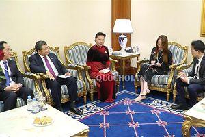 Chủ tịch Quốc hội nguyễn thị Kim Ngân tiếp Chủ tịch Liên minh Nghị viện thế giới (ipu)