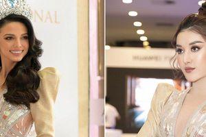 Á hậu Huyền My xinh đẹp khi đụng váy với Hoa hậu Siêu quốc gia