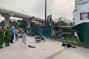 Lao xế hộp vào hàng loạt người đi đường, nữ tài xế khai đạp nhầm chân ga