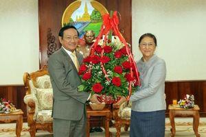 Lãnh đạo Việt Nam chúc Tết năm mới Lào