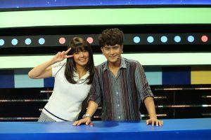 Đàm Phương Linh bất ngờ thân mật với Hùng Thuận khi tham gia gameshow