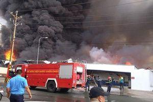 Cháy lớn tại Công ty Cổ phần logistics Pan Pacific