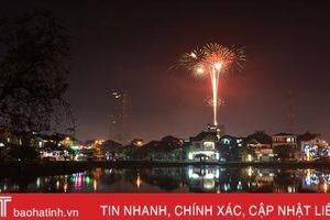 TP Hà Tĩnh bắn pháo hoa đêm 20/4 mừng công nhận đô thị loại II