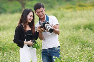 Lạc lối giữa cánh đồng hoa tam giác mạch ở Hà Nội