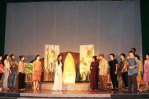 Nhà hát kịch nói Quân đội biểu diễn phục vụ cán bộ, chiến sĩ BĐBP An Giang