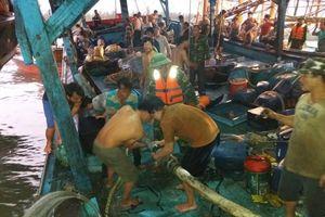 Đồn Biên phòng cửa khẩu cảng Kỳ Hà cứu nạn kịp thời tàu cá cùng 51 ngư dân