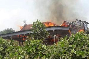 Cháy nhà ở Nghệ An, 1 người tử vong