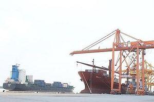 Cảng container quốc tế Hải Phòng đón chuyến tàu đầu tiên xuyên Thái Bình Dương