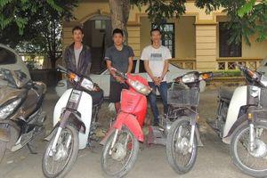 Bắt nhóm trộm cắp, tiêu thụ xe máy ở Hà Nam