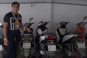 TP.HCM: Phát hiện 6 xe biển số ngũ quý của Phúc XO là biển số giả