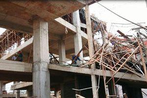 Sập giàn giáo công trình Trung tâm dịch vụ việc làm Đắk Lắk, 8 người nhập viện