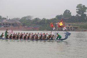 Tưng bừng đua tài, đua sức Hội bơi chải trên sông Lô